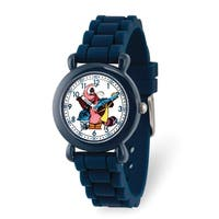 Versil Disney Kids Inside Out Navy Silicone Band Time Teacher Watch