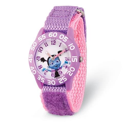 Versil Disney Kids Vampirina Purple Strap Acrylic Time Teacher Watch