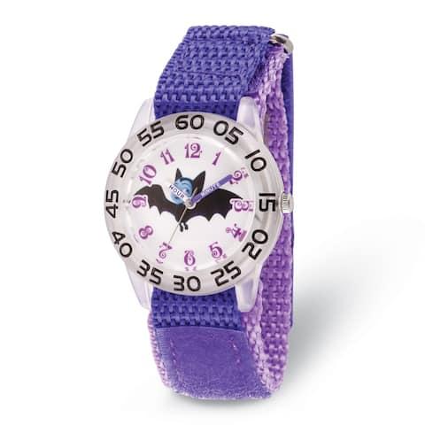 Disney Kids Vampirina Purple Strap Acrylic Time Teacher Watch by Versil