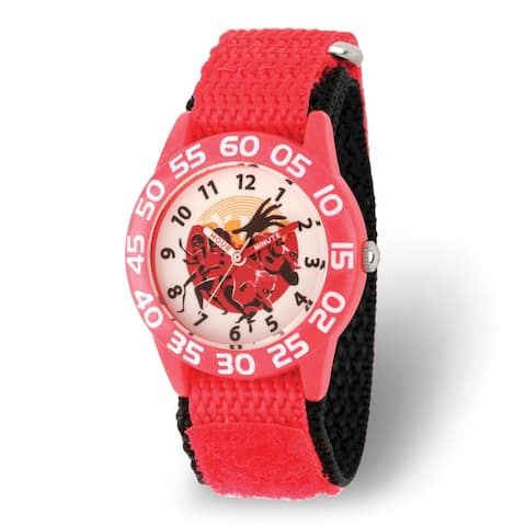 Disney Kids Incredibles 2 Red Nylon Band Time Teacher Watch by Versil
