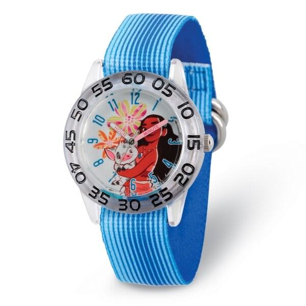 Versil Disney Kids Moana and Pua Blue Strap Acrylic Time Teacher Watch