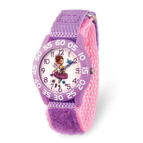 Disney Kids Fancy Nancy Purple Nylon Band Time Teacher Watch by Versil