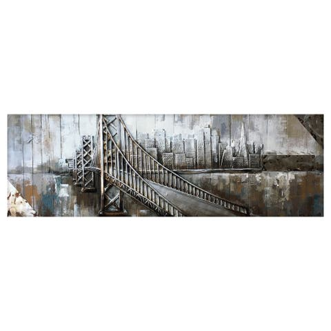 "Yosemite Home Decor ""To The Other Side"" Wood Wall Decor - Multi-color"