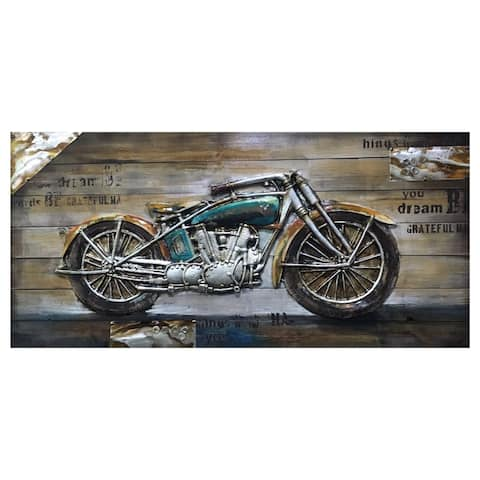 """Yosemite Home Décor """"Bike Passion Collection"""" Wood Wall Décor"""