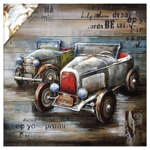 "Yosemite Home Décor ""Vintage Car Show Collection"" Wood Wall Décor"