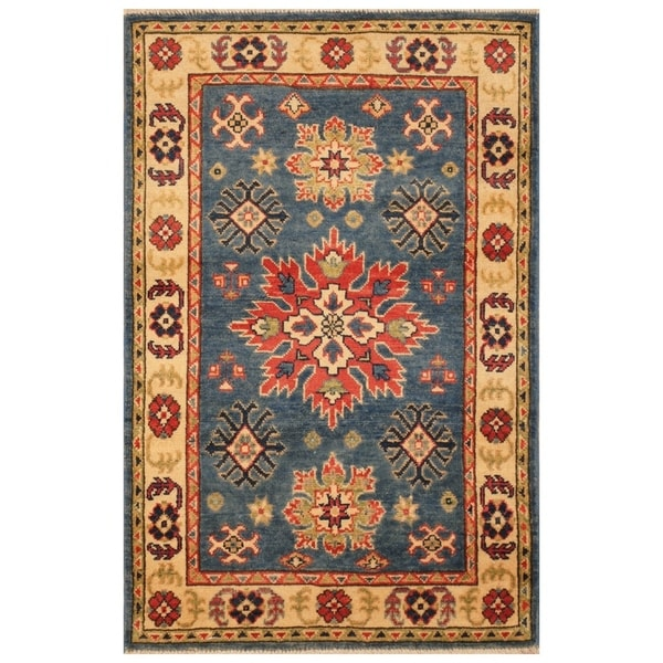 Handmade Kazak Wool Rug (Afghanistan) - 2'8 x 4'1