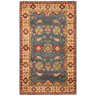 Handmade Kazak Wool Rug (Afghanistan) - 2'6 x 4'3