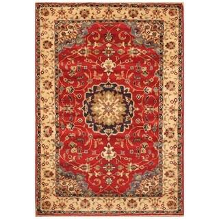 Handmade Kazak Wool Rug (Afghanistan) - 3'5 x 5'
