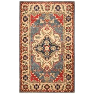 Handmade Kazak Wool Rug (Afghanistan) - 3'1 x 5'2