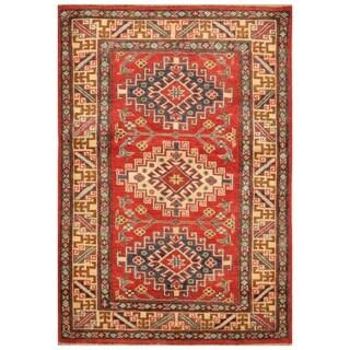 Handmade Kazak Wool Rug (Afghanistan) - 3'2 x 4'6