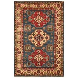 Handmade Kazak Wool Rug (Afghanistan) - 2'8 x 4'