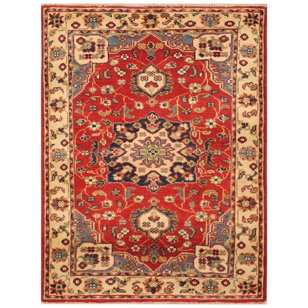 Handmade Kazak Wool Rug (Afghanistan) - 2'1 x 3'6
