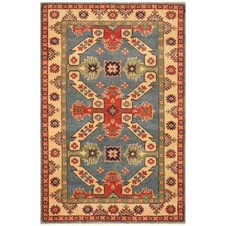 Handmade Kazak Wool Rug (Afghanistan) - 3' x 4'1