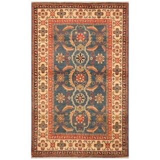 Handmade Kazak Wool Rug (Afghanistan) - 2'8 x 4'4