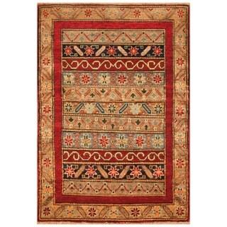 Handmade Kazak Wool Rug (Afghanistan) - 2'9 x 4'1