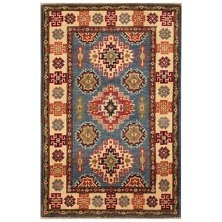 Handmade Kazak Wool Rug (Afghanistan) - 2'5 x 4'