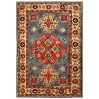 Handmade Kazak Wool Rug (Afghanistan) - 2'9 x 4'