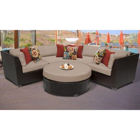 Barbados 4 Piece Outdoor Wicker Patio Furniture Set 04a