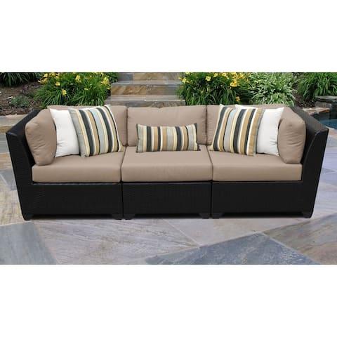 Barbados 3 Piece Outdoor Wicker Patio Furniture Set 03c