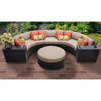 Barbados 6 Piece Outdoor Wicker Patio Furniture Set 06c