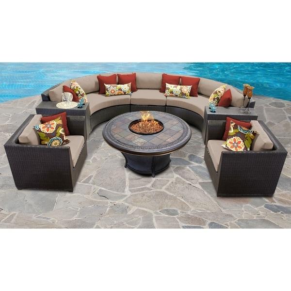 Shop Barbados 8 Piece Outdoor Wicker Patio Furniture Set 08h Free