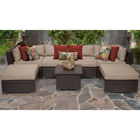 Barbados 7 Piece Outdoor Wicker Patio Furniture Set 07a