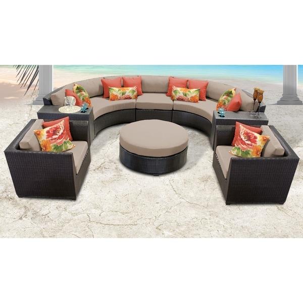 Barbados 8 Piece Outdoor Wicker Patio Furniture Set 08e. Opens flyout.