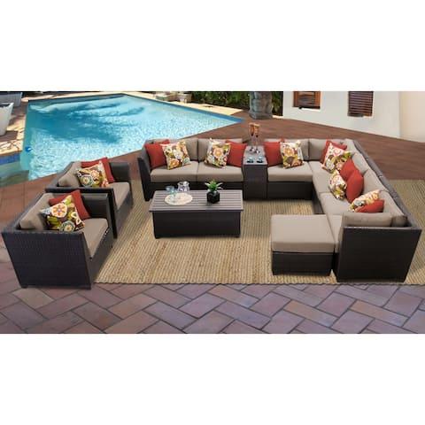 Barbados 12 Piece Outdoor Wicker Patio Furniture Set 12b