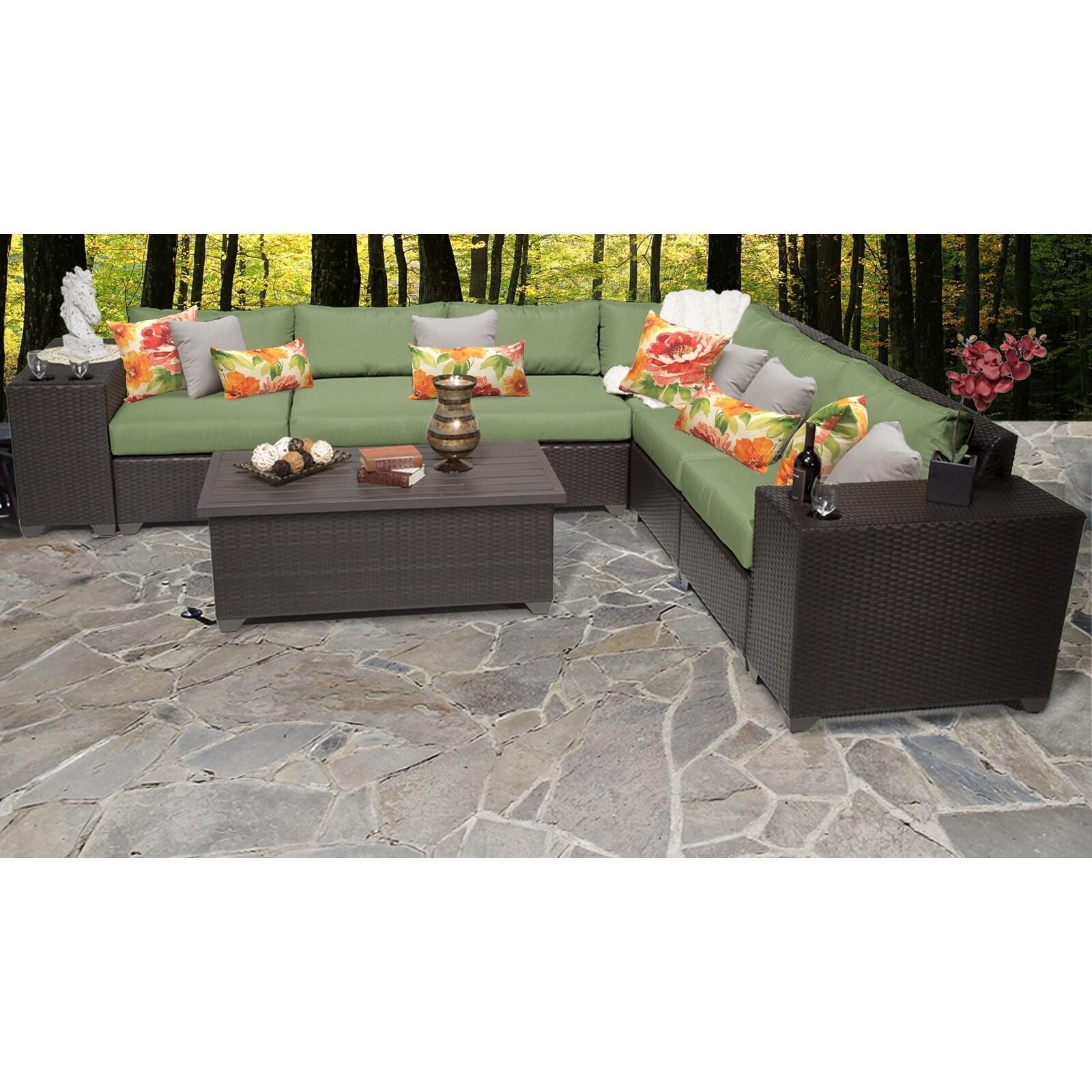 Barbados 9 Piece Outdoor Wicker Patio Furniture Set 09b