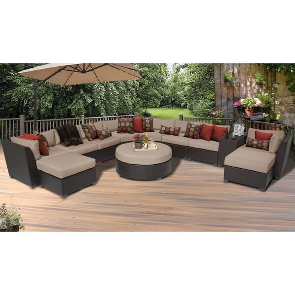 Shop Barbados 11 Piece Outdoor Wicker Patio Furniture Set