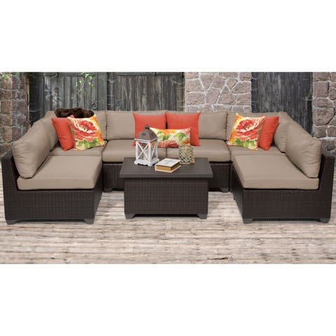 Belle 7 Piece Outdoor Wicker Patio Furniture Set 07a
