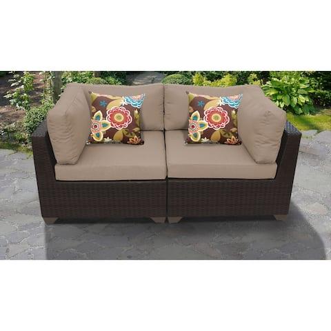Belle 2 Piece Outdoor Wicker Patio Furniture Set 02a