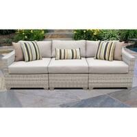 Fairmont 3 Piece Outdoor Wicker Patio Furniture Set 03c