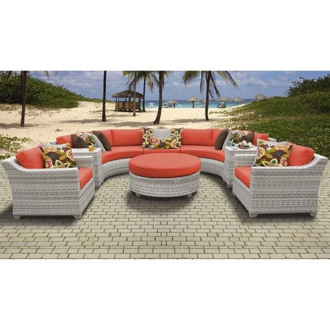 Fairmont 8 Piece Outdoor Wicker Patio Furniture Set 08e