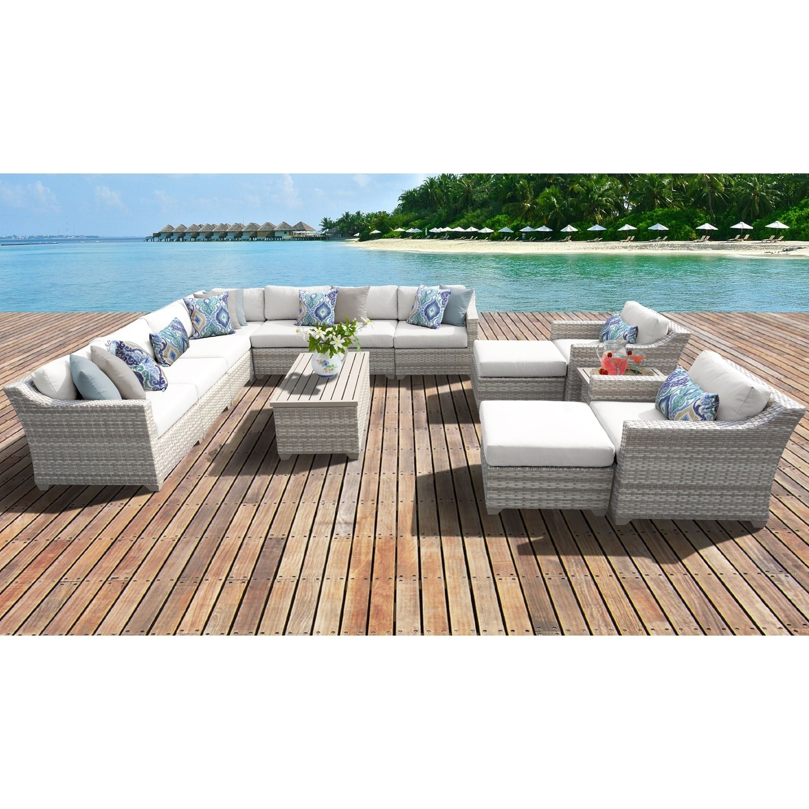 Fairmont Patio Furniture.Details About Fairmont 13 Piece Outdoor Wicker Patio Furniture Set 13a