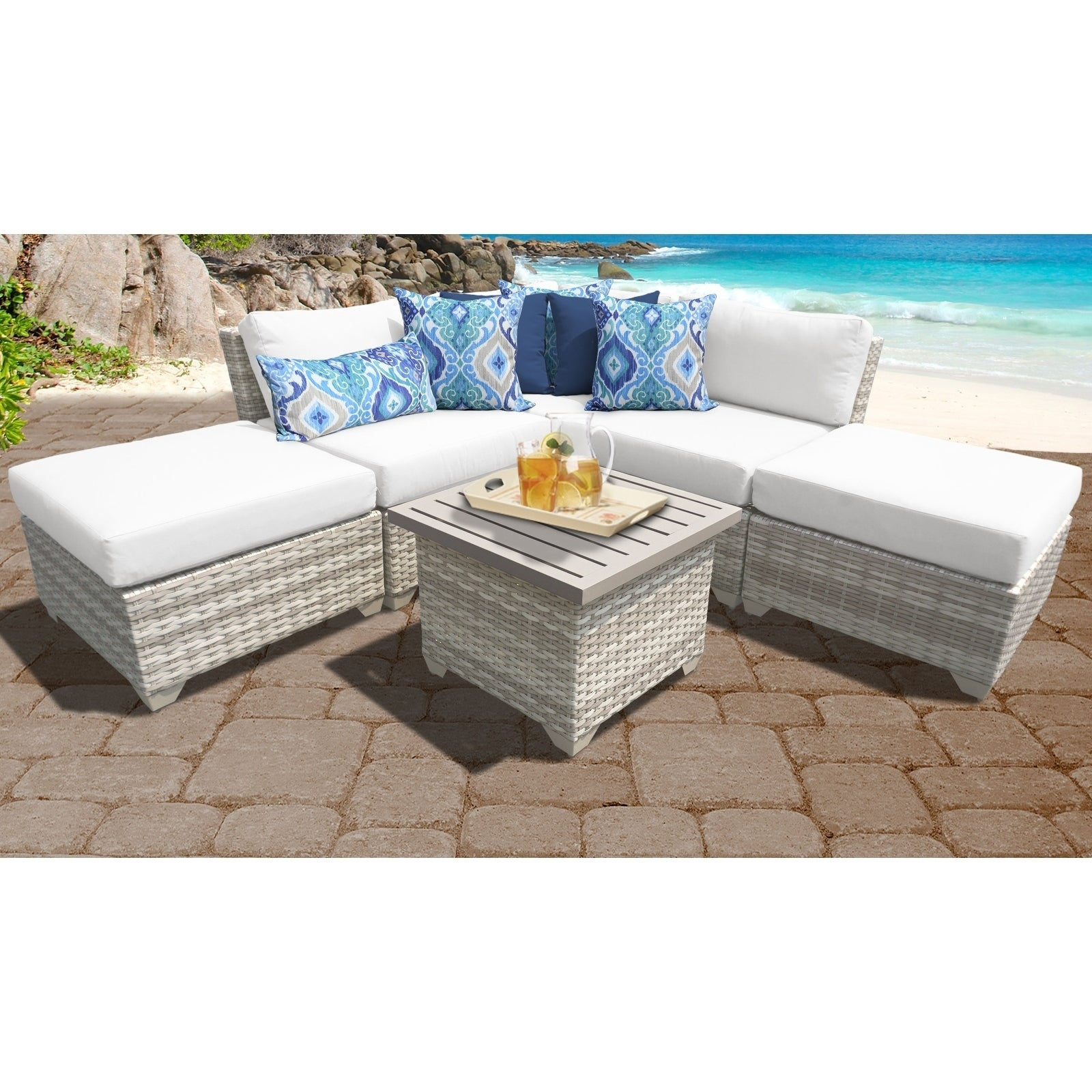 Fairmont Patio Furniture.Details About Fairmont 6 Piece Outdoor Wicker Patio Furniture Set 06f