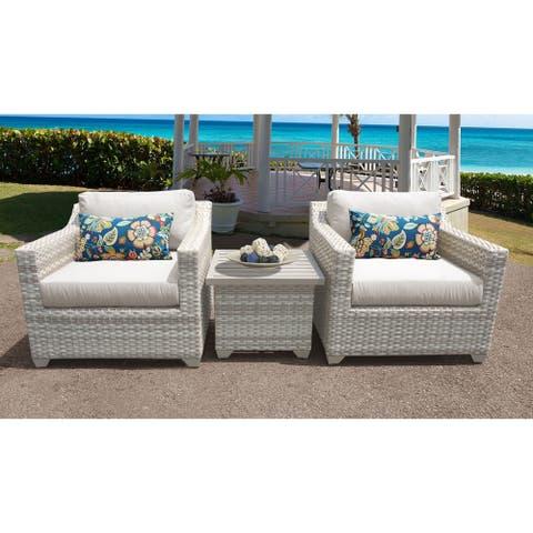 Fairmont 3 Piece Outdoor Wicker Patio Furniture Set 03a