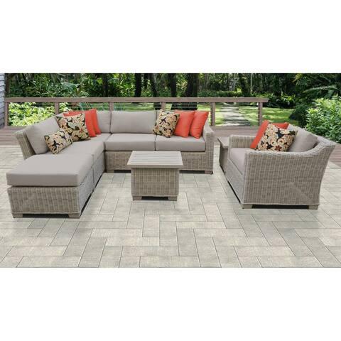 Coast 8 Piece Outdoor Wicker Patio Furniture Set 08g