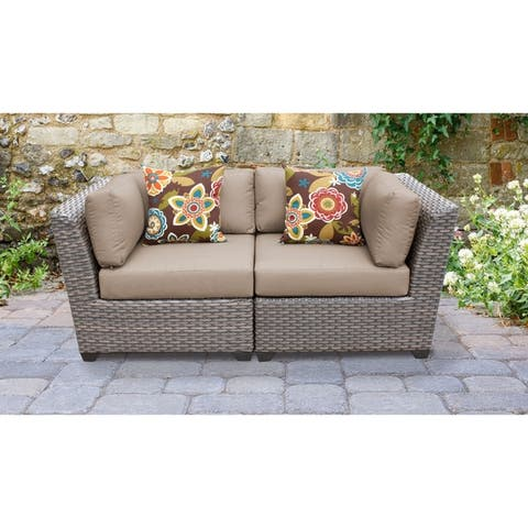 Florence 2 Piece Outdoor Wicker Patio Furniture Set 02a