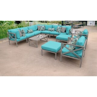 Carlisle 13 Piece Outdoor Wicker Patio Furniture Set 13a