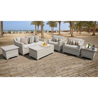 Fairmont 7 Piece Outdoor Wicker Patio Furniture Set 07d