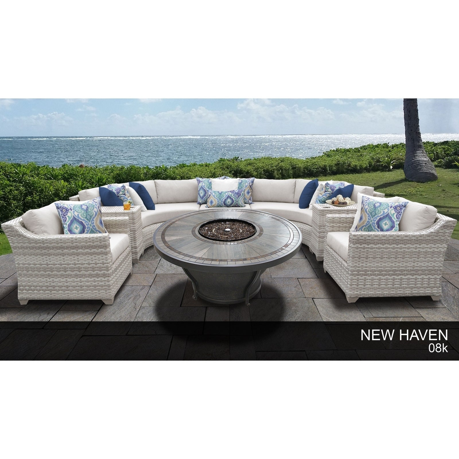 Fairmont Patio Furniture.Details About Fairmont 8 Piece Outdoor Wicker Patio Furniture Set 08k