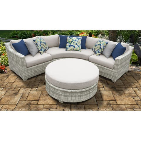 Fairmont 4 Piece Outdoor Wicker Patio Furniture Set 04a