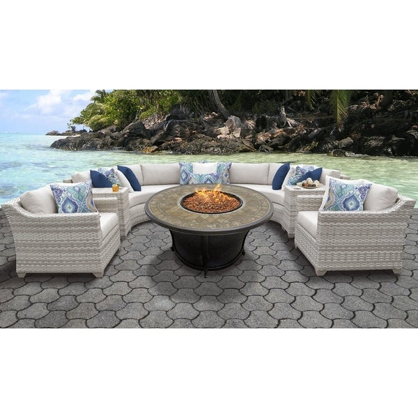 Fairmont Patio Furniture.Shop Fairmont 8 Piece Outdoor Wicker Patio Furniture Set 08f Free