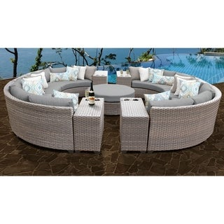Florence 11 Piece Outdoor Wicker Patio Furniture Set 11b