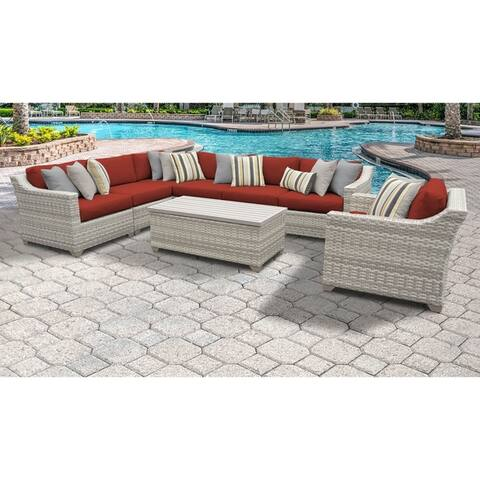 Fairmont 8 Piece Outdoor Wicker Patio Furniture Set 08d
