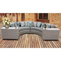Florence 4 Piece Outdoor Wicker Patio Furniture Set 04c