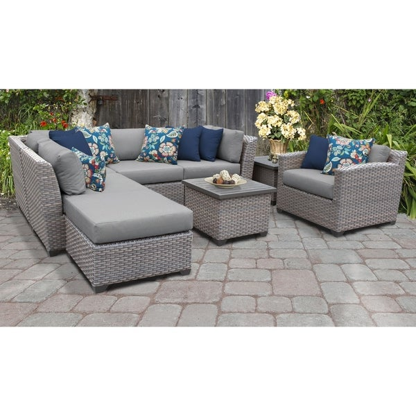 Florence 8 Piece Outdoor Wicker Patio Furniture Set 08g. Opens flyout.
