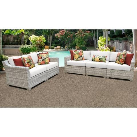 Fairmont 5 Piece Outdoor Wicker Patio Furniture Set 05a