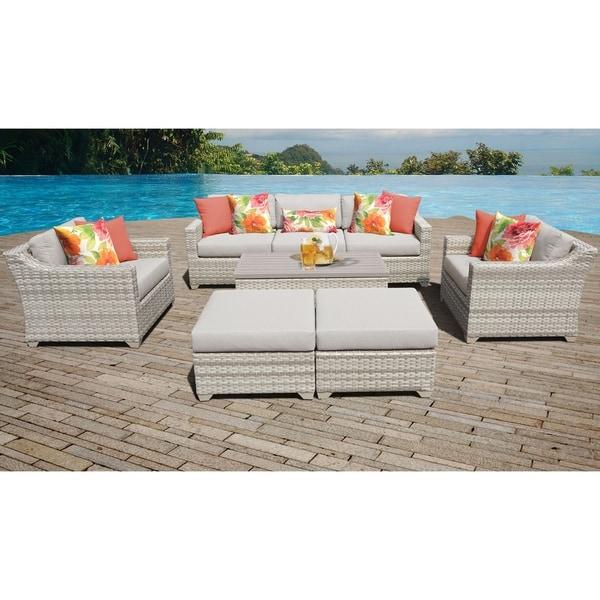 Fairmont 8 Piece Outdoor Wicker Patio Furniture Set 08c. Opens flyout.